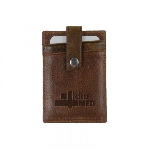 WestBridge Two-Tone RFID Leather Money Clip/Card Case