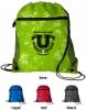 Distressed Printed Mesh Pocket Drawcord Backpack
