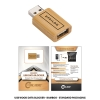 Wood USB Data Blocker with Standard Packaging