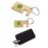 Bamboo Phone Stand Keychain Thin