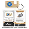 Bamboo Phone Stand Keychain Thin with Standard Packaging