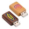 Wood USB Data Blocker