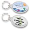 Clear Acrylic Oval Souvenir Key-Chain