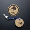 Floatie Recycled Cork Keychains - Oval
