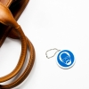 PVC Fob with Keyring or Zipper Pull - 1 3/4