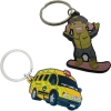 PVC Fob with Keyring or Zipper Pull - 2