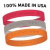 Custom Adult Sized Debossed Silicone Bracelet