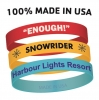Custom Screen Printed Adult Sized Silicone Bracelets