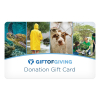 Gift of Giving Gold Level Donation Gift Card
