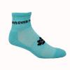 Import Athletic Moisture Wicking Ankle Socks w/Knit-In Logo
